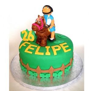 tarta fondant caballo