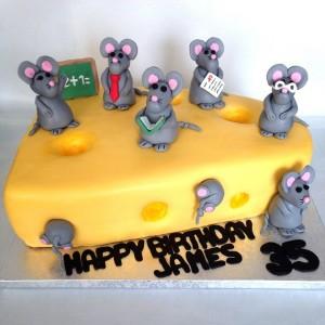 Tarta Queso y Ratones